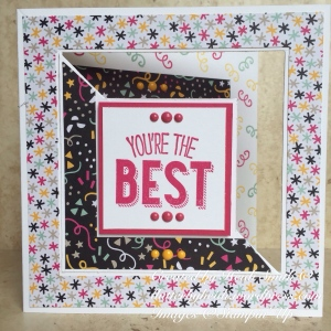 Friendly wishes fancy fold stampin up uk
