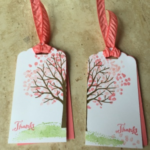Tag it Tuesday sheltering tree Stampin up uk